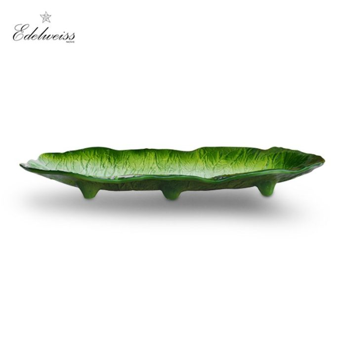 ceramiche_edelweiss_foglie_chicory_leaf_oval_serving_bowl_the_artisan_food_company