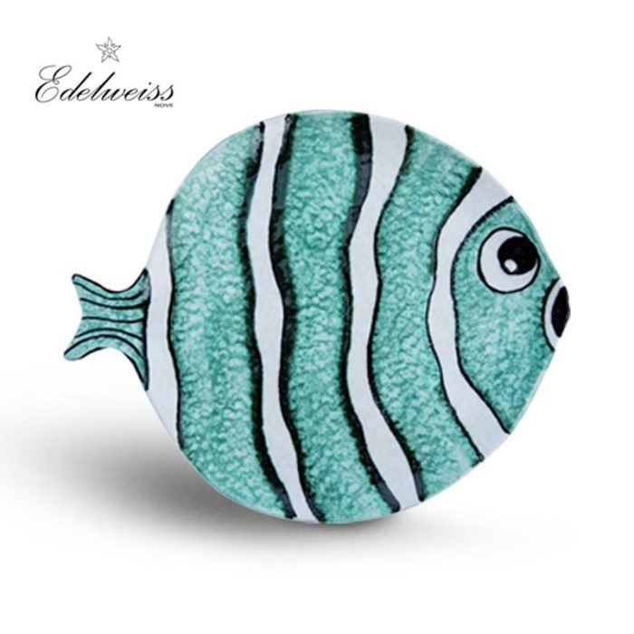 ceramiche_edelweiss_nemo_azzuro_blue_fish_round_plate_set_of_6_the_artisan_food_company