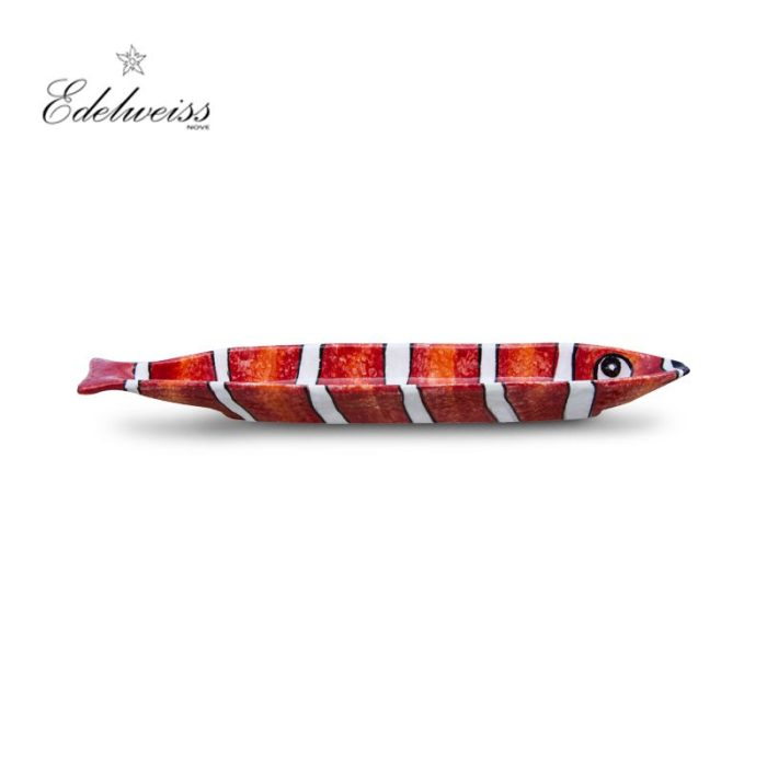ceramiche_edelweiss_nemo_rosso_red_fish_oval_bowl_set_of_2_the_artisan_food_company