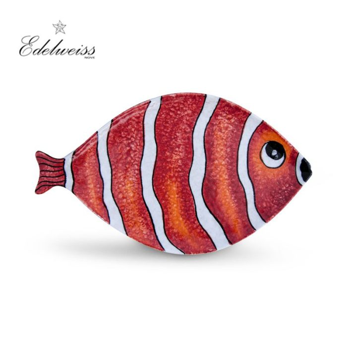 ceramiche_edelweiss_nemo_rosso_red_fish_oval_tray_the_artisan_food_company