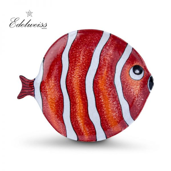 ceramiche_edelweiss_nemo_rosso_red_fish_round_plate_set_of_6_the_artisan_food_company
