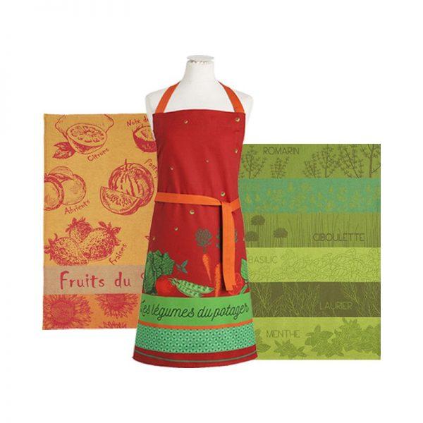 coucke_légumes_du_potager_apron_&_tea_towel_gift_set_the_artisan_food_company