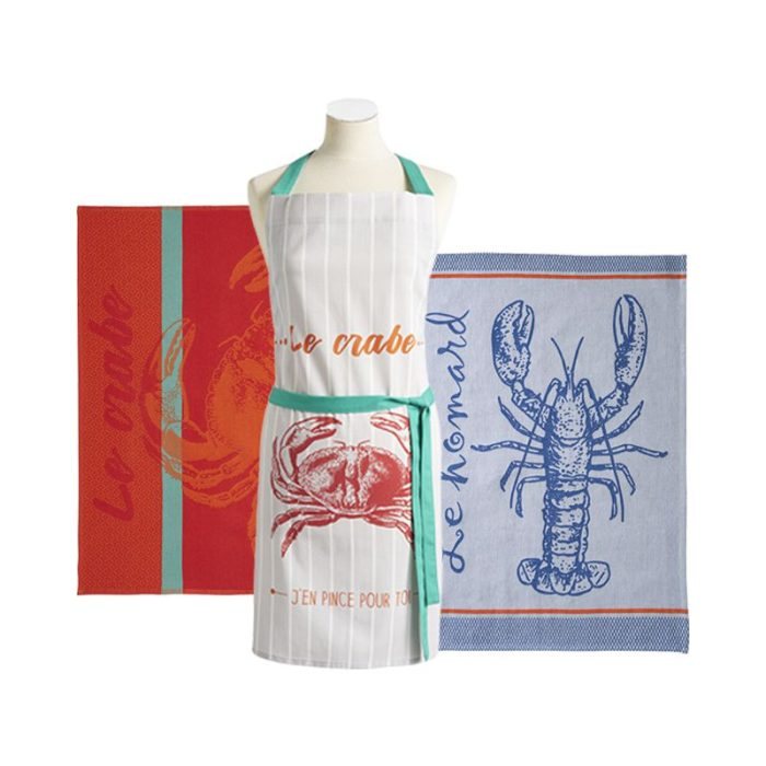coucke_le_crabe_apron_&_tea_towel_gift_set_the_artisan_food_company