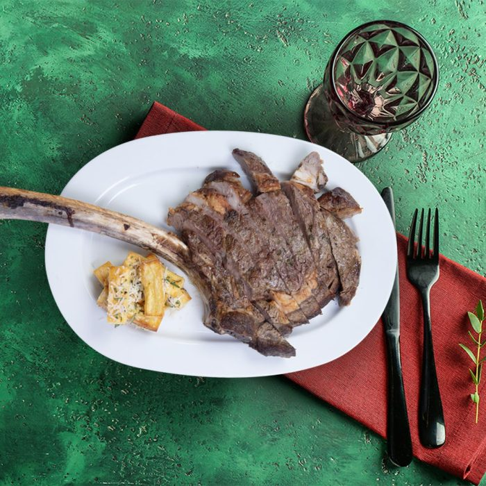aged_tomahawk_steak_with_hand_cut_chips_weekly_recipe_box_the_artisan_food_company