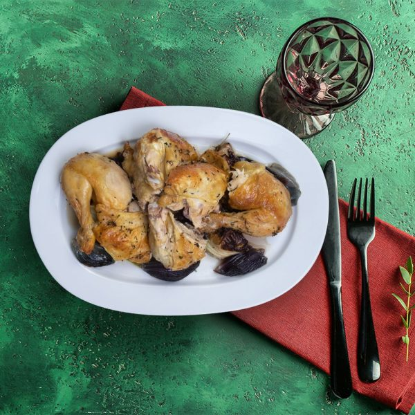 corn_fed_whole_roasted_chicken_serving_plate_weekly_recipe_box_the_artisan_food_company