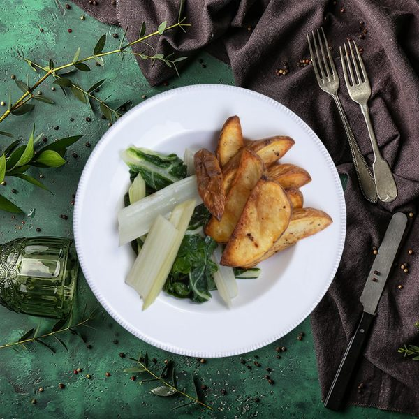 handcut_potato_wedges_&_sauteed_swiss_chard_the_artisan_food_company