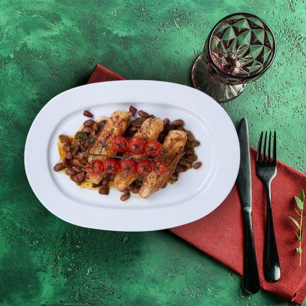 monk_fish_with_chorizo_serving_plate_weekly_recipe_box_the_artisan_food_company