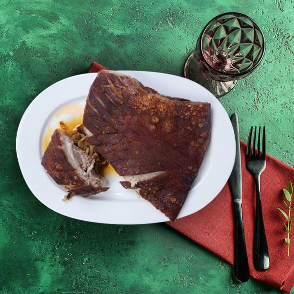 outside_reared_roast_pork_belly_serving_plate_weekly_recipe_box_the_artisan_food_company