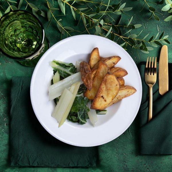 potato_wedges_roasted&_swiss_chard_the_artisan_food_company